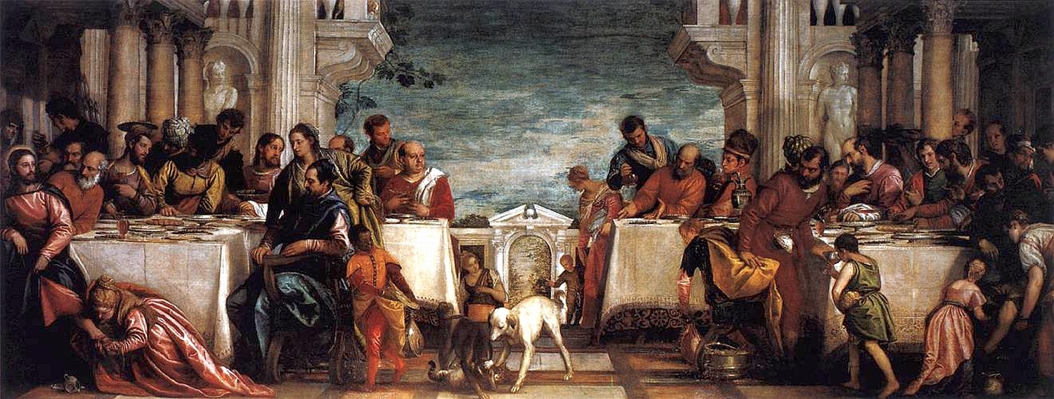 Paolo Veronese, Feast at the House of Simon 1567-1570