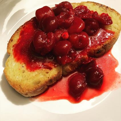 Bartolomeo Cherry Sops recipe - interpreted by Crystal King, author THE CHEF'S SECRET