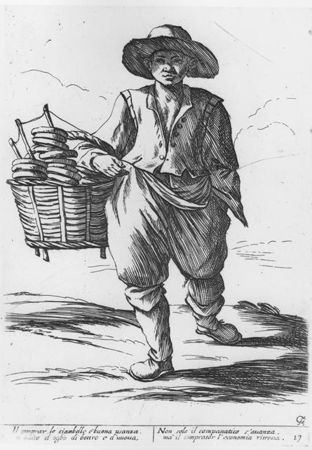Venditore di ciambelle - Renaissance bread seller
