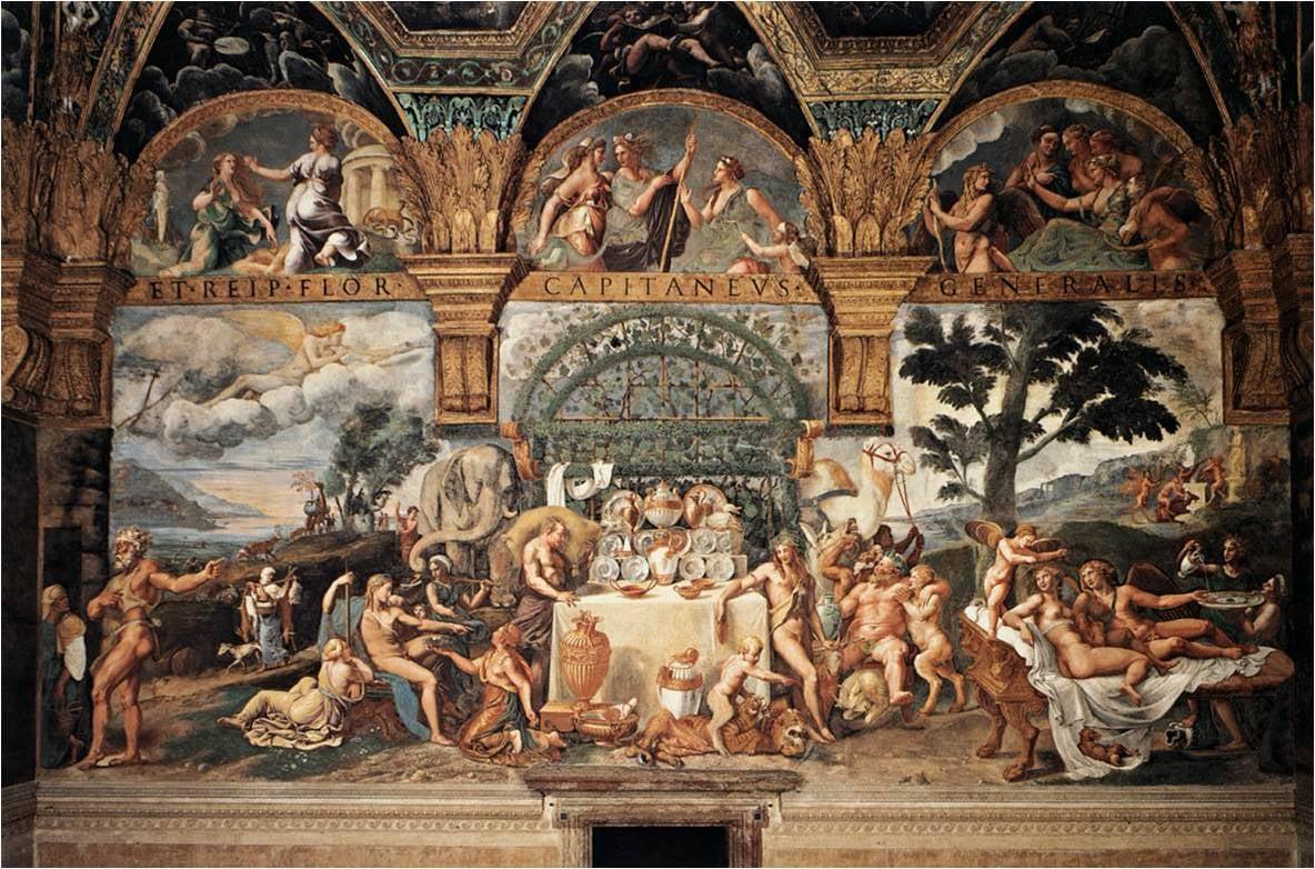 Fresco by Giulio Romano, Palazzo del Te, Mantua c. 1524-1535