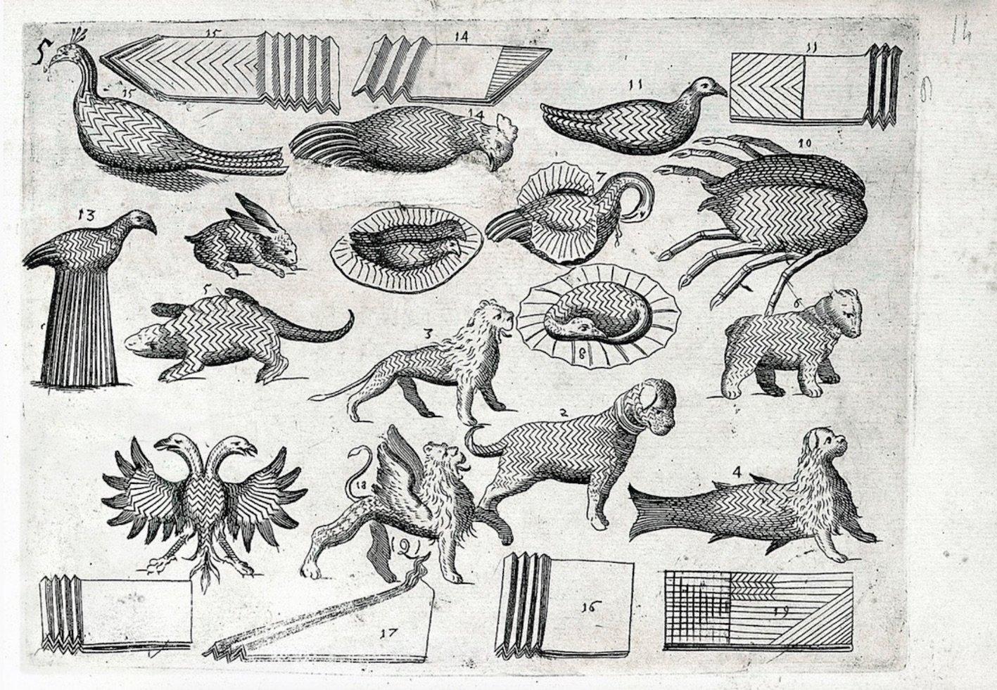 Mattia Giegher Tratto delle Piegature - Napkin folding 1629