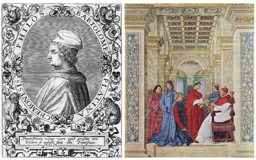 Bartolomeo Platina and his induction as Vatican Librarian