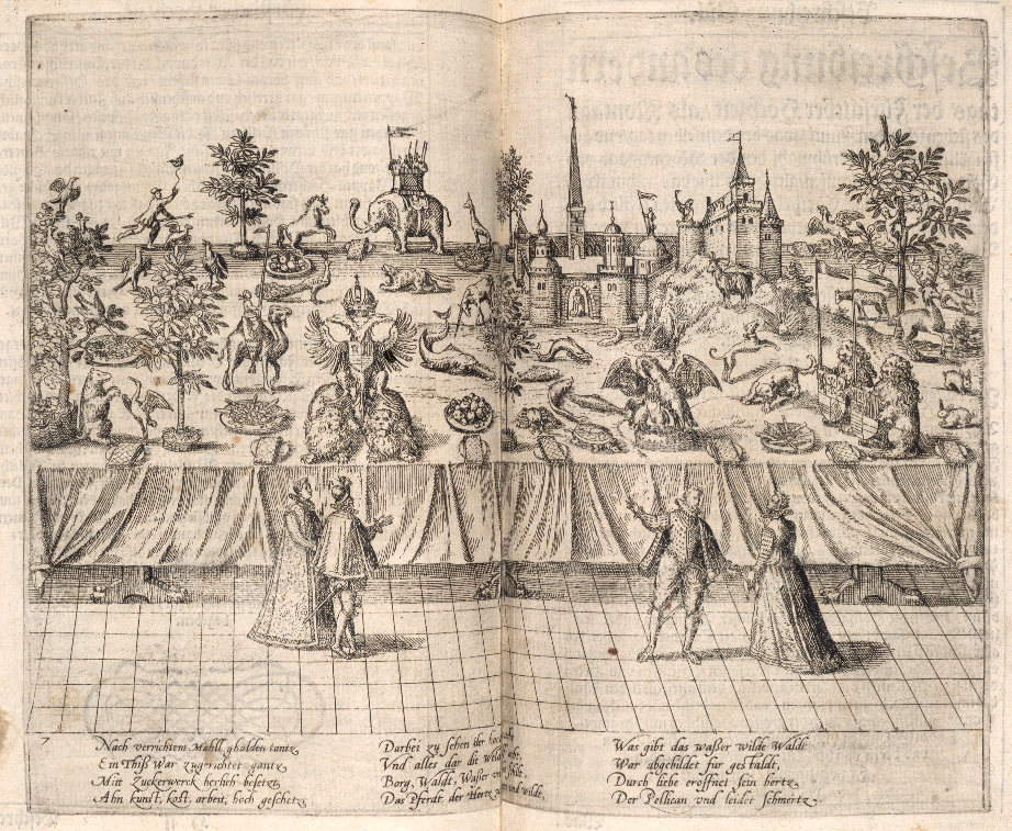Sugar sculptures at the Wedding Feast of Johann Wilhelm, 1585